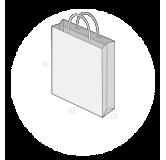 Sac publicitaire papier poignées torsadées ou coton avec revers taille 24