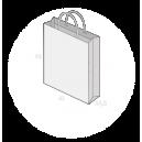 Sac publicitaire papier poignées torsadées ou coton avec revers taille 26