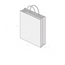 Sac publicitaire papier poignées torsadées ou coton avec revers taille 28