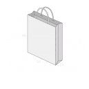 Sac publicitaire papier poignées torsadées ou coton avec revers taille 30