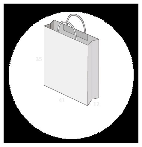 Sac publicitaire papier poignées torsadées ou coton taille 22