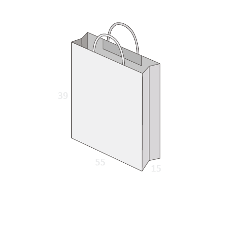 Sac publicitaire papier poignées torsadées ou coton taille 27