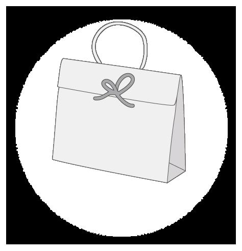 Sac publicitaire papier luxe cadeau personnalisé  taille 3