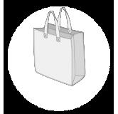 Sacs cabas PP non tissé (TNT) avec plastification taille 2