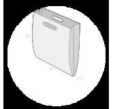 Sac plastique poignées découpées soufflets latéraux taille 1