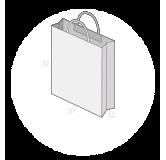Sac personnalisé papier kraft poignées torsadées taille 6
