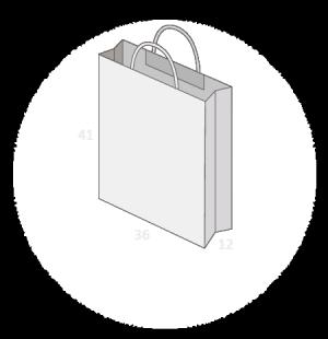 Sac personnalisé papier kraft poignées torsadées taille 8