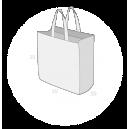 Sacs cabas PP non tissé (TNT) sans plastification taille 2
