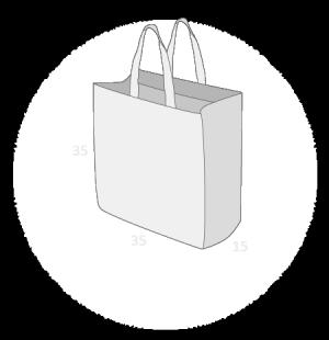 Sacs cabas PP non tissé (TNT) sans plastification taille 5