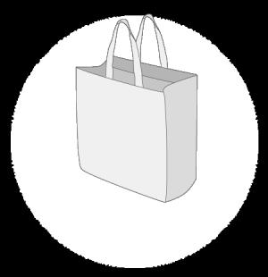 Sacs tissu non tissé sans plastification taille 1
