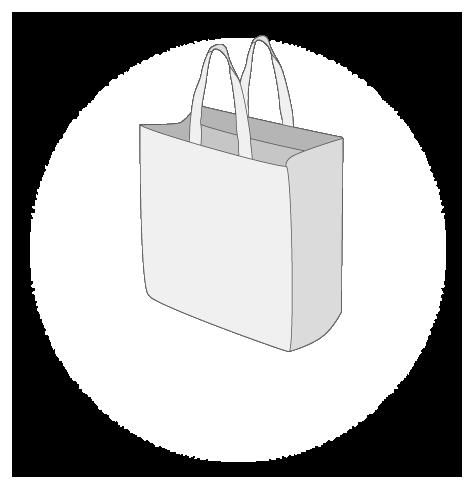 Sacs cabas PP non tissé (TNT) sans plastification taille 6