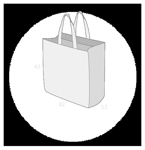 Sacs cabas PP non tissé (TNT) sans plastification taille 9