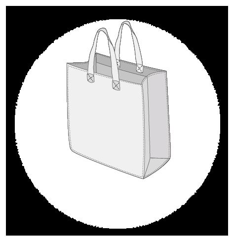 Sacs cabas PP non tissé (TNT) avec plastification taille 7