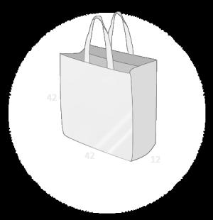 Sacs cabas PP non tissé (TNT) avec plastification taille 8