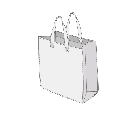Sacs cabas PP non tissé (TNT) avec plastification taille 14