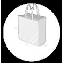 Sacs cabas PP non tissé (TNT) avec plastification taille 11