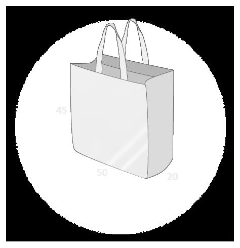 Sacs cabas PP non tissé (TNT) avec plastification taille 18