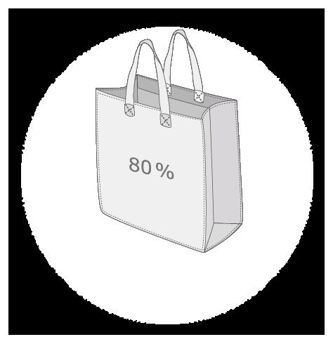 Sac publicitaire cabas PET recyclé à 80%  taille 8