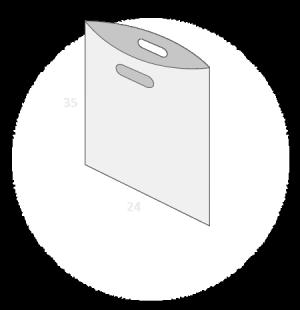 Sac plastique poignées découpées sans soufflet taille 2