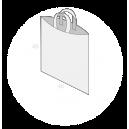 Sac plastique anses souples sans soufflets de fond taille 4