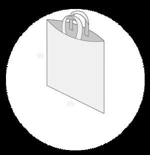Sac plastique anses souples sans soufflets de fond taille 6