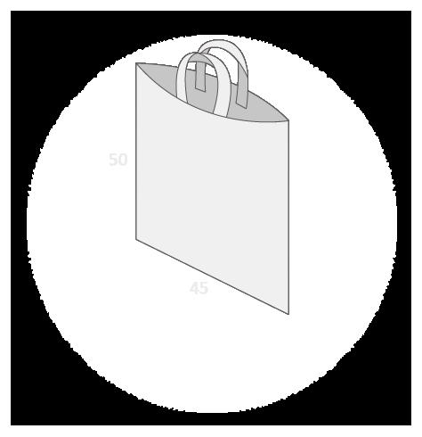 Sac plastique anses souples sans soufflet taille 6