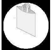 Sac plastique anses souples sans soufflets de fond taille 7