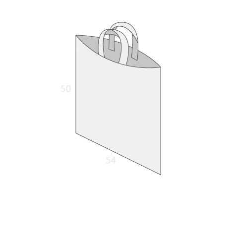 Sac plastique anses souples sans soufflet taille 7