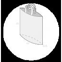 Sac plastique anses souples avec soufflet de fond taille 4