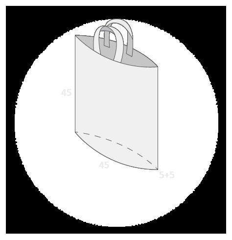Sac plastique anses souples avec soufflet de fond taille 5