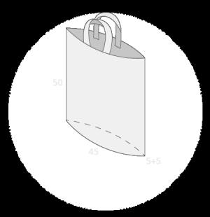 Sac plastique anses souples avec soufflet de fond taille 6
