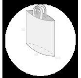 Sac plastique anses souples avec soufflet de fond taille 8