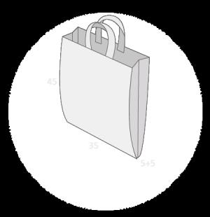 Sac plastique anses souples avec soufflets latéraux taille 3