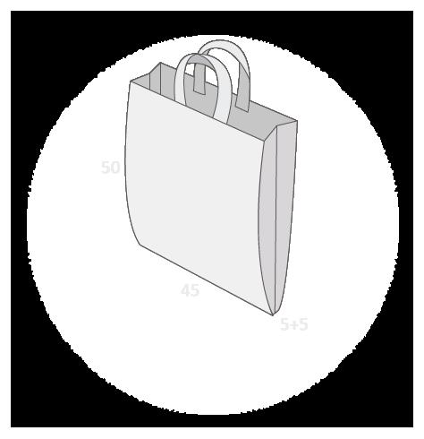 Sac plastique anses souples avec soufflets latéraux taille 6