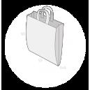 Sac plastique anses souples avec soufflets latéraux taille 7