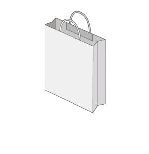 Sac publicitaire papier poignées torsadées ou coton taille 5