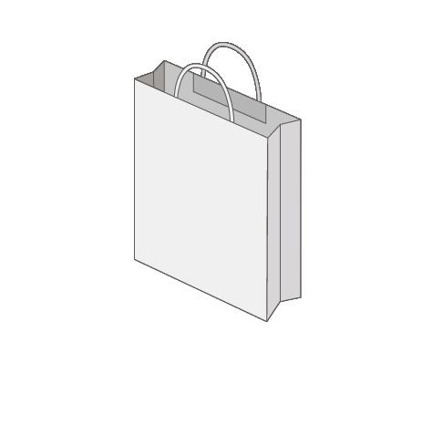 Sac publicitaire papier poignées torsadées ou coton taille 15