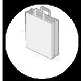 Sac publicitaire papier kraft poignées plates taille 16