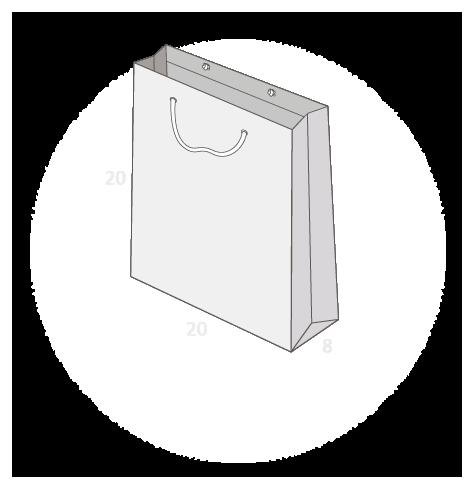 sac publicitaire papier luxe 20+8x20