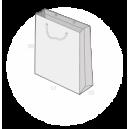 sac publicitaire papier luxe 13+13x30