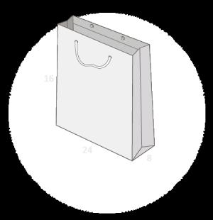 sac publicitaire papier luxe 24+8x16