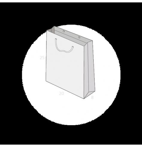 sac publicitaire papier luxe 20+8x25