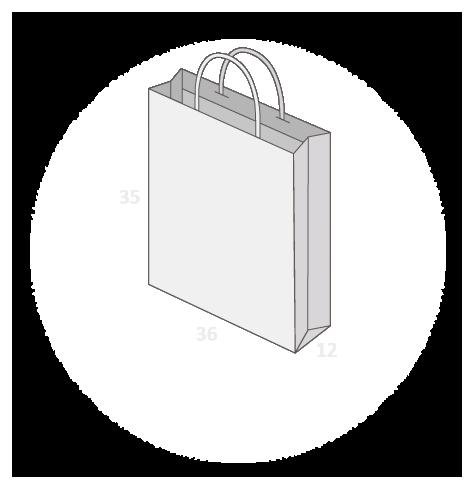 Sac papier poignées torsadées ou coton avec revers taille 19