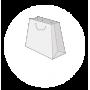 Sac papier luxe format trapèze