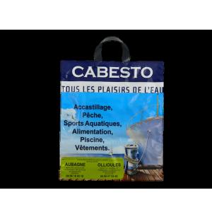 Sac plastique anses souples avec soufflet de fond