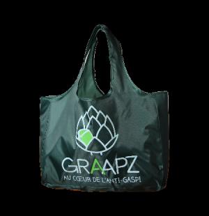 Sac polyester pliable publicitaire (sac de course pliable)